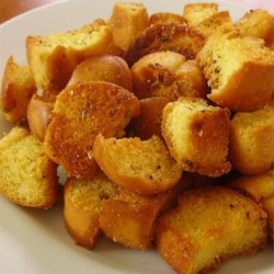 Old Hamburger Bun Croutons Recipe