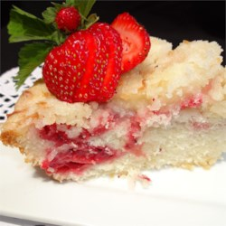 Fresh Strawberry Coffee Cake Recipe