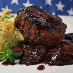 Filet Mignon with Mushroom-Cabernet Gravy Recipe