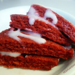Red Velvet Pancakes with Cream Cheese Glaze Recipe