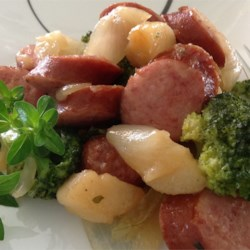 Easy Kielbasa Skillet Dinner Recipe