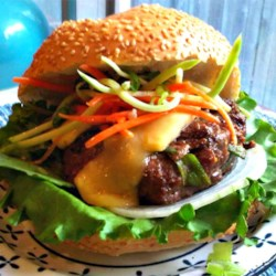 Asian Barbecue Burgers Recipe