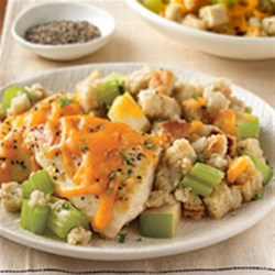 Skillet Chicken and Apple Stuffing Recipe