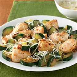 Garlic Chicken and Zucchini Recipe