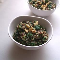 Cheesy Quinoa Pilaf with Spinach Recipe