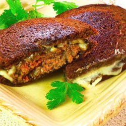 Patty Melt on Pumpernickel