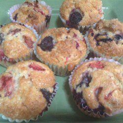 Strawberry-Blueberry Muffins Recipe