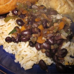 Easy Rum-Flavored Black Beans and Rice Recipe