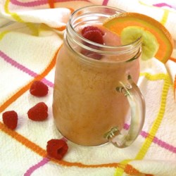 Raspberry-OJ-Banana Smoothie