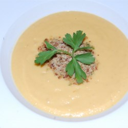 Cream of Cauliflower Soup With Bacon Gremolata