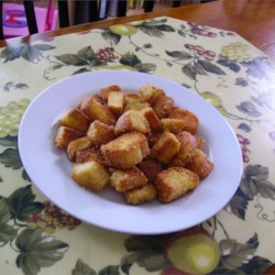 BEST Garlic Parmesan Croutons Recipe
