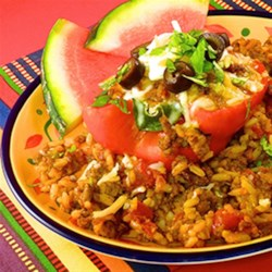 HERDEZ(R) Chorizo-Stuffed Bell Peppers Recipe