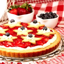 Fresh 4th of July Strawberry Tart :)