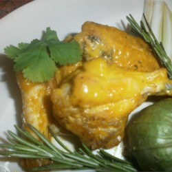 Sweet Hot Mustard Chicken Wings Recipe