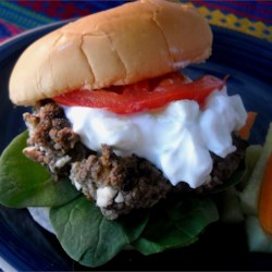 Greek Hamburgers Recipe