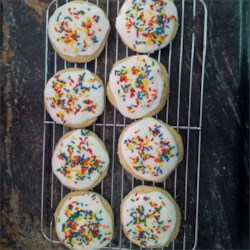 Iced Banana Sugar Cookies