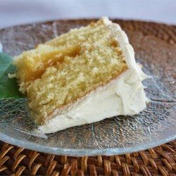 The Best One-Bowl Yellow Cake w/ Marshmallow Cream Frosting