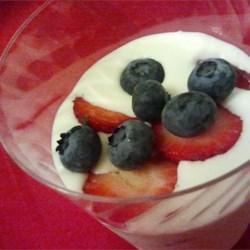 Swedish Cream with Summer Berries