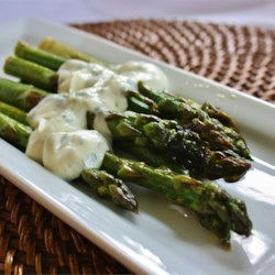 Grilled Asparagus with Cilantro Lemon Butter Recipe