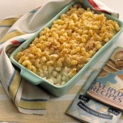 Baked Mac and Cheese with Sour Cream and Cottage Cheese