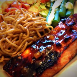 Sweet 'n' Hot Glazed Salmon