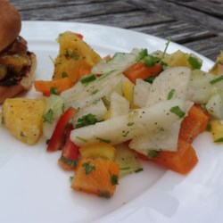 Refreshing Sweet and Spicy Jicama Salad (Vegan) Recipe