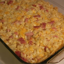 Cheesy Ham Potato Bake