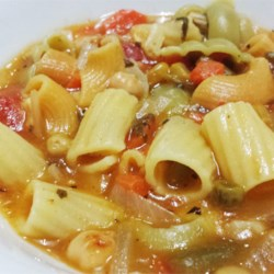 Garbanzo Tomato Pasta Soup Recipe