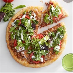 Salad-Topped Taco Pizza Recipe