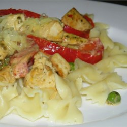 Creamy Chicken Pesto and Bowtie Pasta