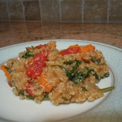 Carrot, Tomato, and Spinach Quinoa Pilaf Recipe