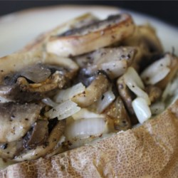Baked Potato with Mushrooms Recipe
