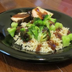 Cocoa Cherry Pork w/Brown Rice & Broccoli (August 3, 2013)