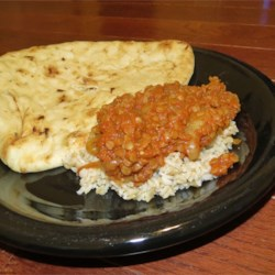 Red Lentil Curry w/Brown Rice & Naan (August 1, 2013)