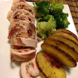 Pancetta Wrapped Stuffed Chicken Breasts Recipe