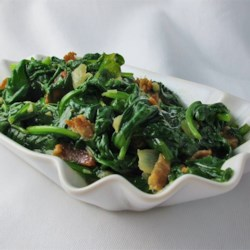 Pan Fried Spinach