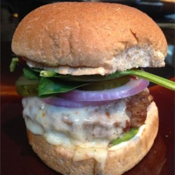 Onion and Cheddar Burgers