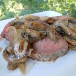 Beef Sirloin Tip Roast with Mushrooms Recipe