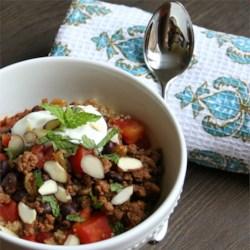 Beef Chili 5 Ways--Moroccan Version