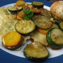 Zucchini and Pesto Ravioli