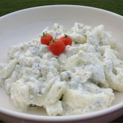Blue Cucumber Salad Recipe