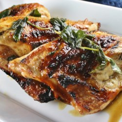 Grilled Turkey Breast with Fresh Sage Leaves Recipe