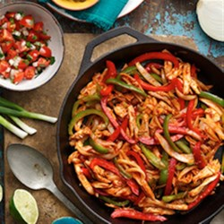 BBQ Chicken Fajitas from Old El Paso(R) Recipe