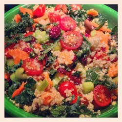 Quinoa Salad with Mint, Almonds and Cranberries