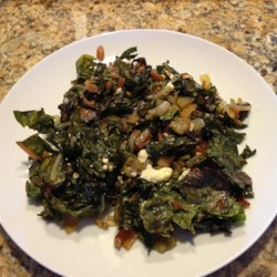 Roasted Swiss Chard with Feta Recipe