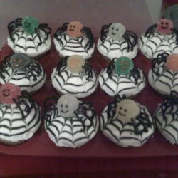 Spiced Spider Cupcakes