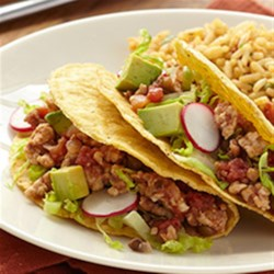 Photo of Turkey Tacos with Spicy Tomatoes by Del Monte