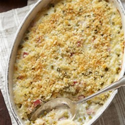 Scalloped Potatoes with Peas and Ham Recipe