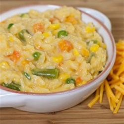 One Pot Easy Cheesy Vegetables and Rice Recipe