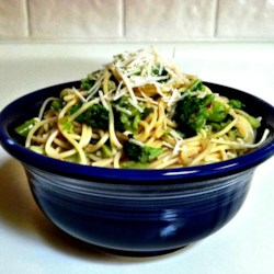 Broccoli Garlic Angel Hair Pasta Recipe